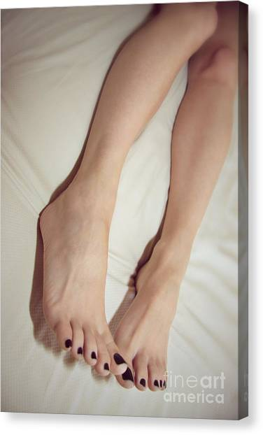 Long Toe Lover Canvas Print by Tos Photos