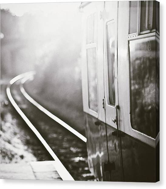 Railroads Canvas Print - Long Train Running by James Homer