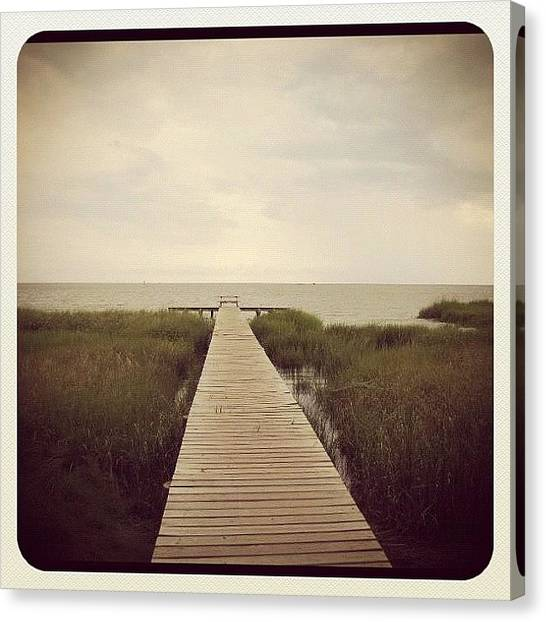 Marshes Canvas Print - Long Walk Off Short Pier by Kimberly Washington