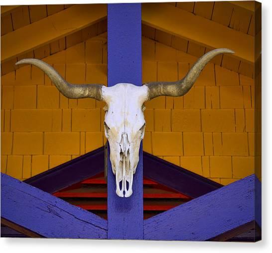 Cowboy Canvas Print - Longhorn by Carol Leigh