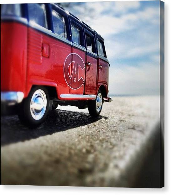 Vw Bus Canvas Print - Longue Route... Ch Style. #road_ri3 by Tobrook Eric gagnon