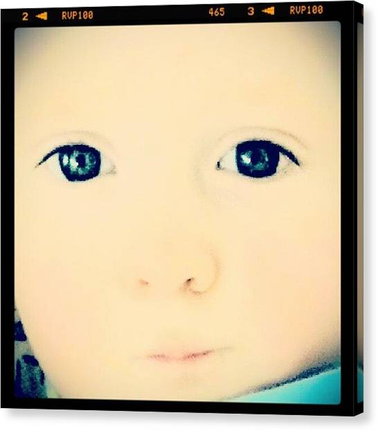Pastel Canvas Print - Look Into My Eyes #baby #blue #eyes by Marianne Dow