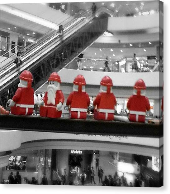Om Canvas Print - Look Who's In Town... #santaclaus by Om Bhatia