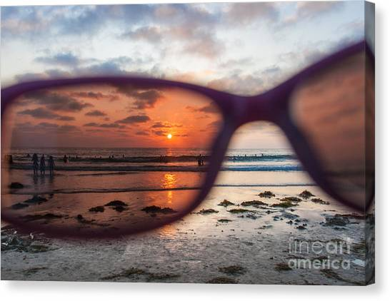 Looking At Life Through Rose Colored Glasses Canvas Print