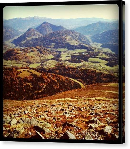 Rocky Mountains Canvas Print - Looking Back Home by Florian Divi