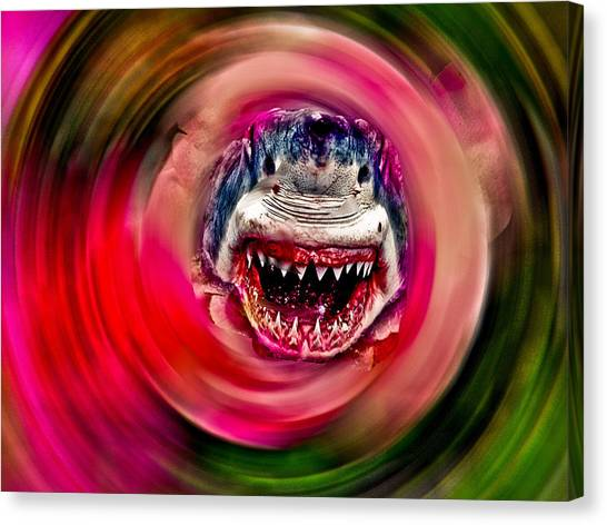 Looking For Lunch Canvas Print by Dennis Dugan