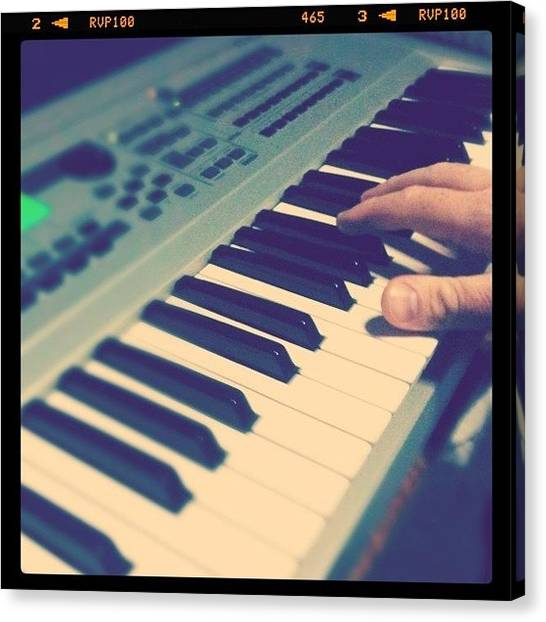 Keyboards Canvas Print - Looking For Some Tunes by Ivan Belvis