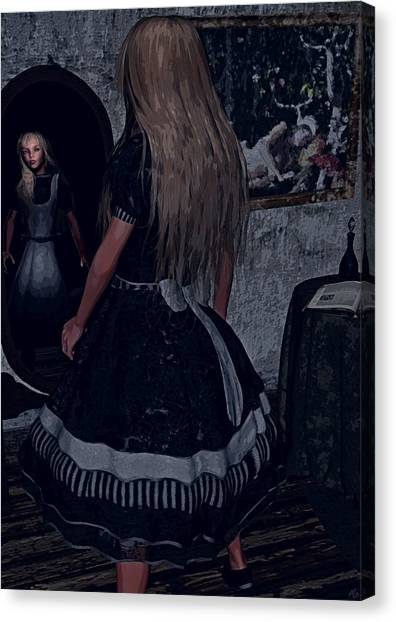 Looking Glass Alice Canvas Print
