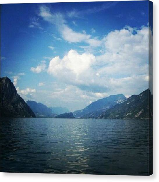Dolomites Canvas Print - Looking North Towards The Dolomites by Lauren Dunn