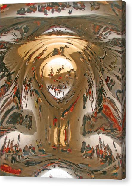 Cloudgate Canvas Print - Looking Up by Elvira Butler