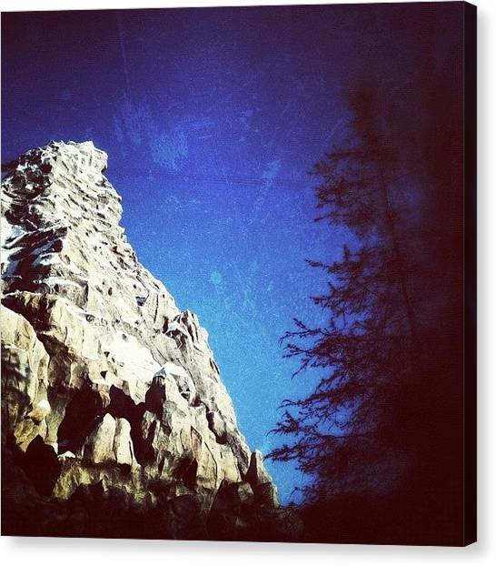 Matterhorn Canvas Print - Looks Like A Post Card :) #disneyland by Rhiannon Mim