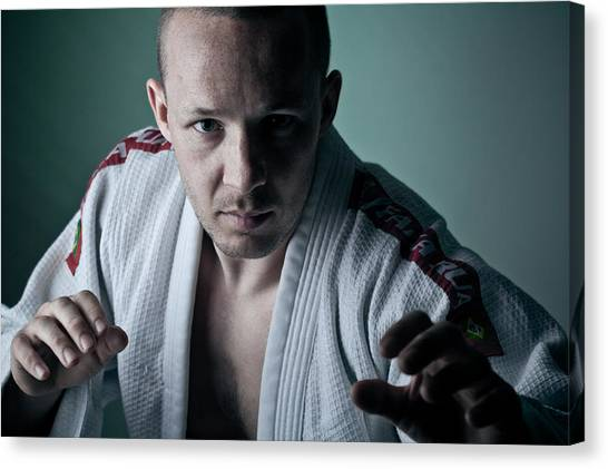 Jujitsu Canvas Print - Looming Closer by Charlie Moss