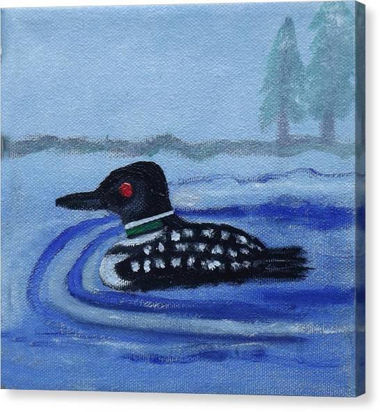 Loon On Lake Winnipeaukee Canvas Print