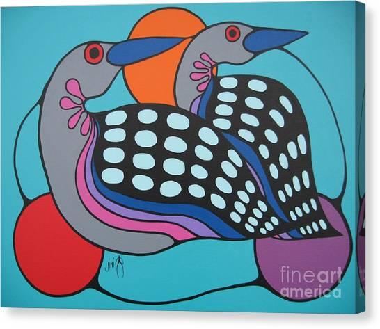 Loons Canvas Print - Loons by Jim Oskineegish