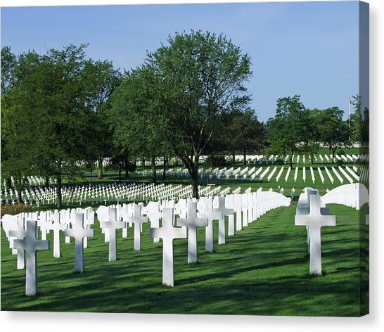 Lorraine Wwii American Cemetery St Avold France Canvas Print