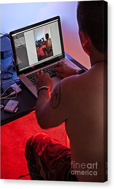 Lost In My Mac Canvas Print