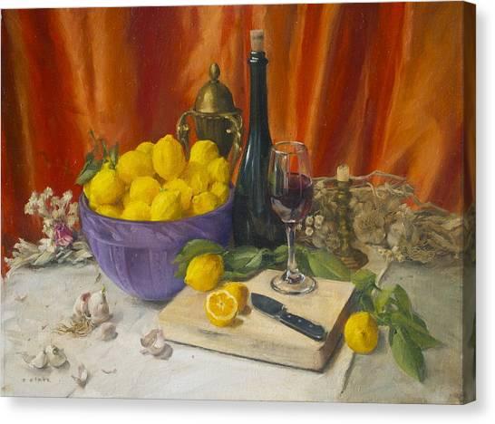 Lotta Lemons Canvas Print