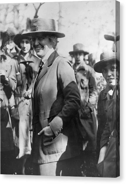 Girl Scouts Canvas Print - Lou Henry Hoover 1874-1944, First Lady by Everett