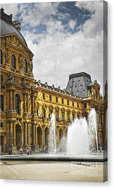 Louvre Canvas Print - Louvre by Elena Elisseeva