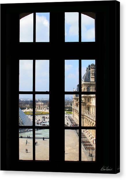 Louvre Window Canvas Print