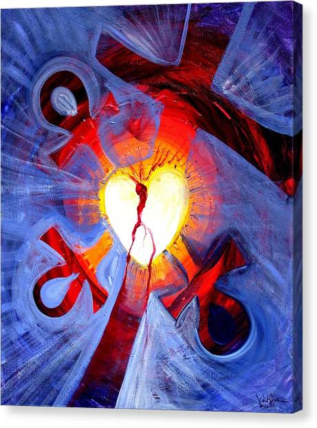 Love - In Three ... For All Canvas Print