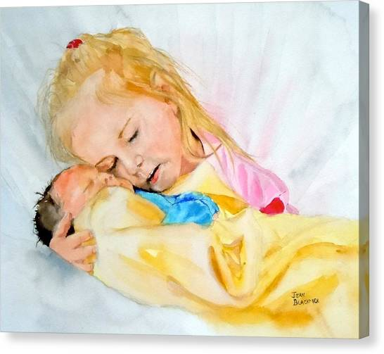 Big Sister Canvas Print - Love At First Sight by Jean Blackmer