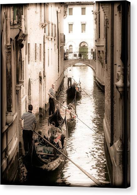Canvas Print featuring the photograph Love Canal by Mark Forte
