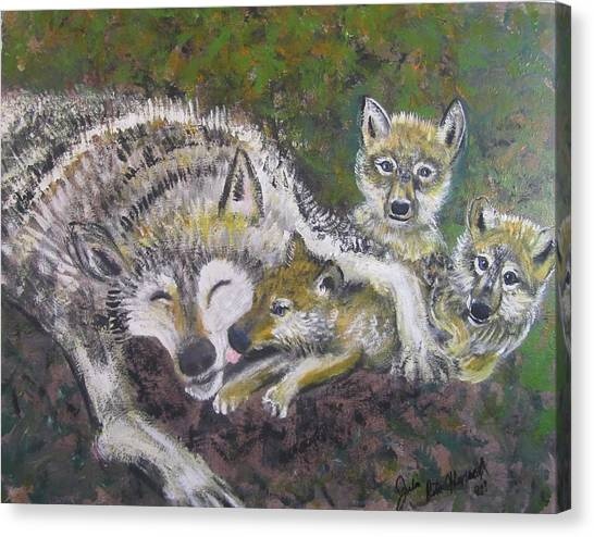 Love Cubs Canvas Print by Julia Rita Theriault