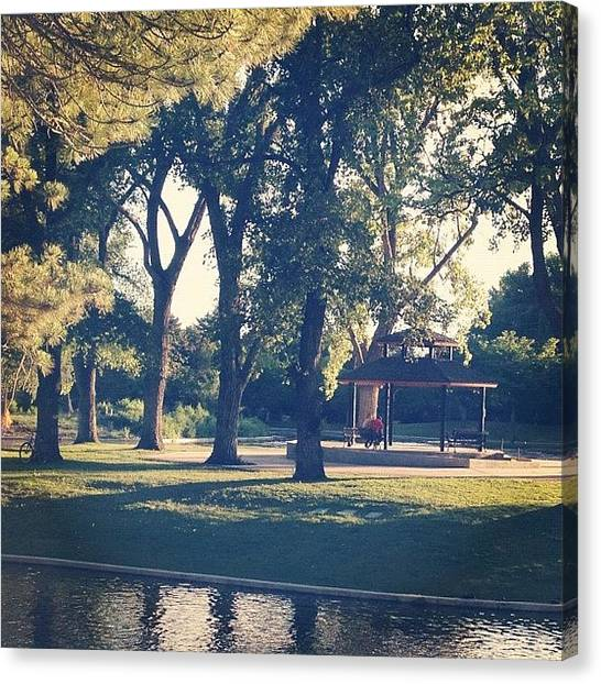 Salt Canvas Print - Love In A Gazebo by Doug Smeath