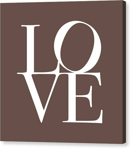 Anniversary Canvas Print - Love In Chocolate by Michael Tompsett