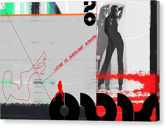 Dancing Girl Canvas Print - Love Is Around Again by Naxart Studio