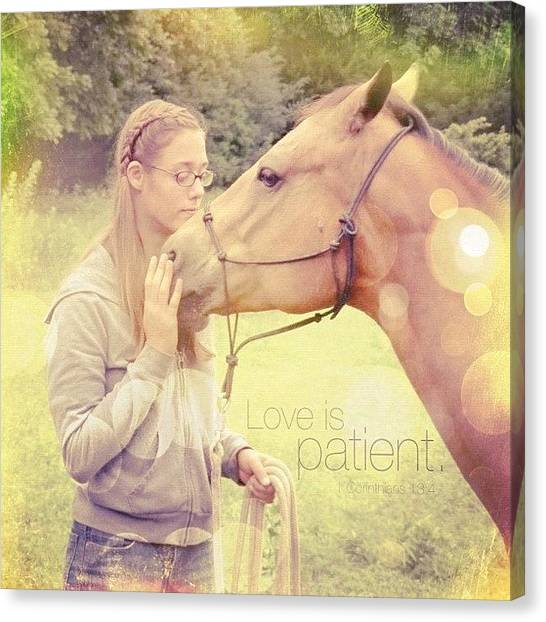 Inspirational Canvas Print - Love Is Patient. 1 Corinthians 13:4💚 by Traci Beeson