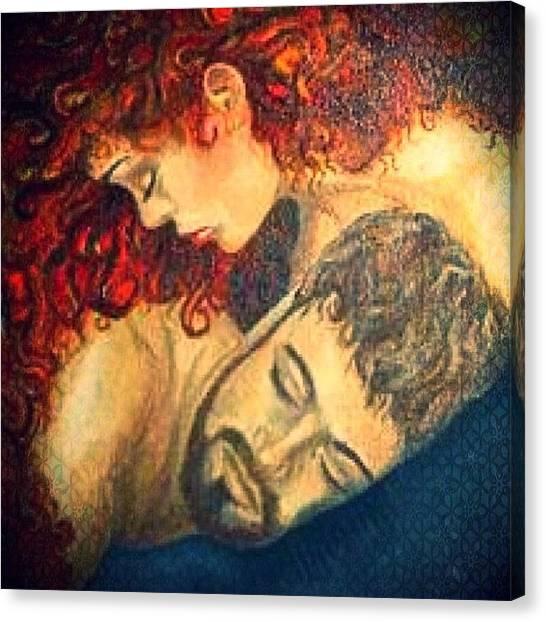 Kiss Canvas Print - Love by Lisa Catherwood