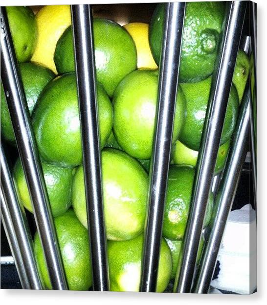 Still Life Canvas Print - Love Me Some Lime by Travel Designed