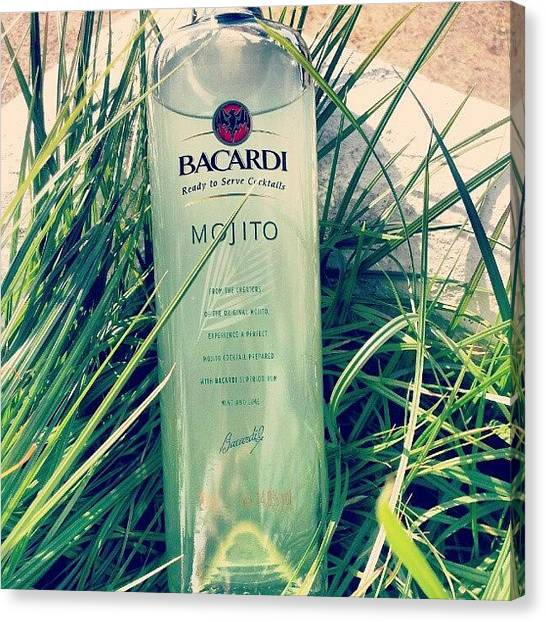 Pub Canvas Print - Love Mojito! #bacardi #mojito by Paul Petey