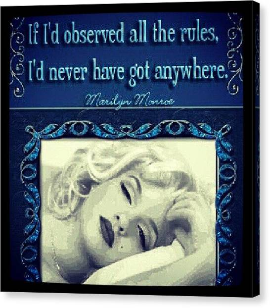 Marilyn Monroe Canvas Print - Love My Marilyn by Holley Jacobs