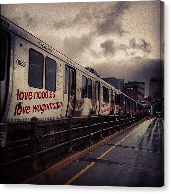 Fast Food Canvas Print - #love #noddles #train #fast #unfilter by Nate Greenberg