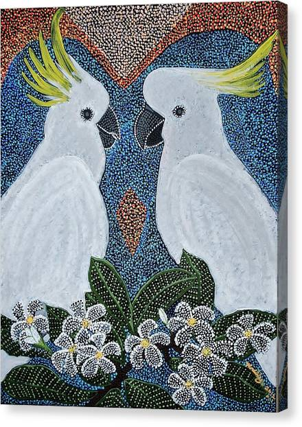 Love Of The Cockatoos Canvas Print