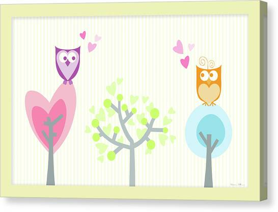 Love Owls Canvas Print by Nomi Elboim