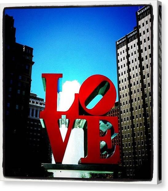 Pennsylvania Canvas Print - Love Park In Philadelphia by Jordan Roberts