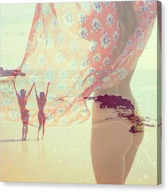 Bikini Canvas Print - 💕👙love by Ronnie V