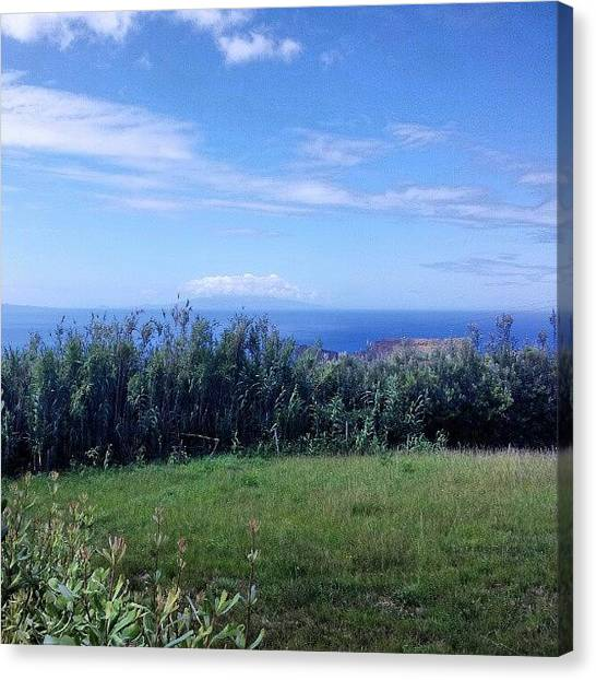 Europa Canvas Print - Love This Green And Blue Of Azores by Jorge Silveira Sousa