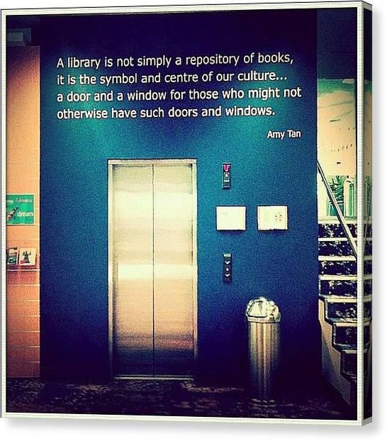 Libraries Canvas Print - Love This Library Quote, Should Be More by Luke Fuda