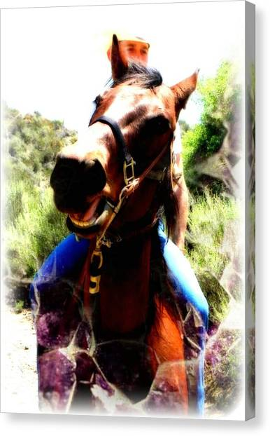 Love To Ride Canvas Print by Amanda Eberly-Kudamik