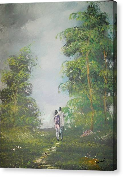 Love Walk In The Woods Canvas Print
