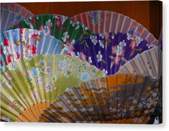 Lovely Fans In Tokyo Canvas Print