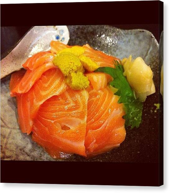 Salmon Canvas Print - Lovely Lunch With Lovely Friends by TC Li