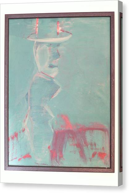 Lover With Hat On Fire  Canvas Print by Harry  Nash