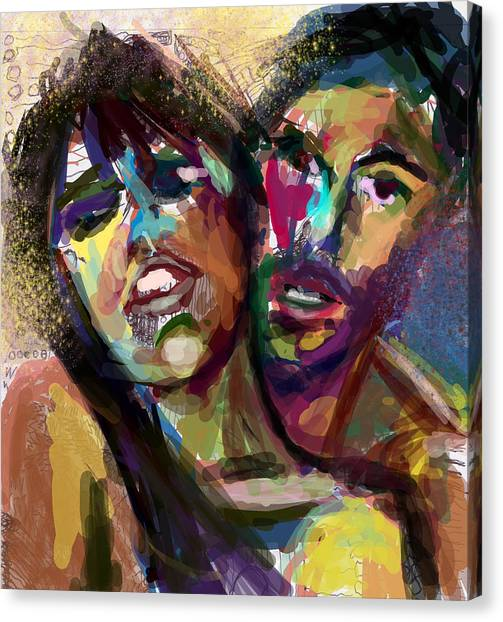 Lovers Canvas Print by James Thomas