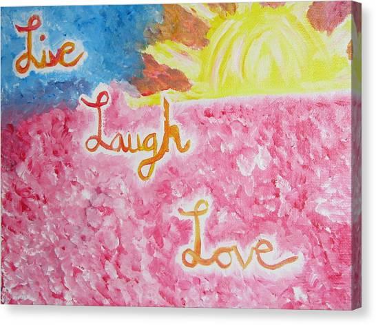 Loving Life Canvas Print by Hannah Stedman